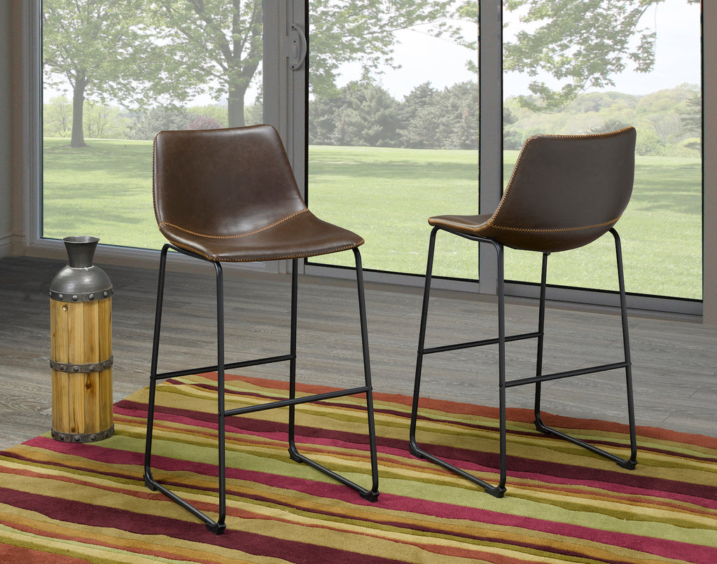 "Acasia 29"" Bar Stool - Brown (Set of 2) 
