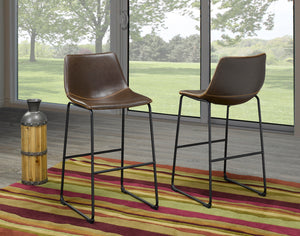 "Acasia 26"" Bar Stool - Brown (Set of 2) 
