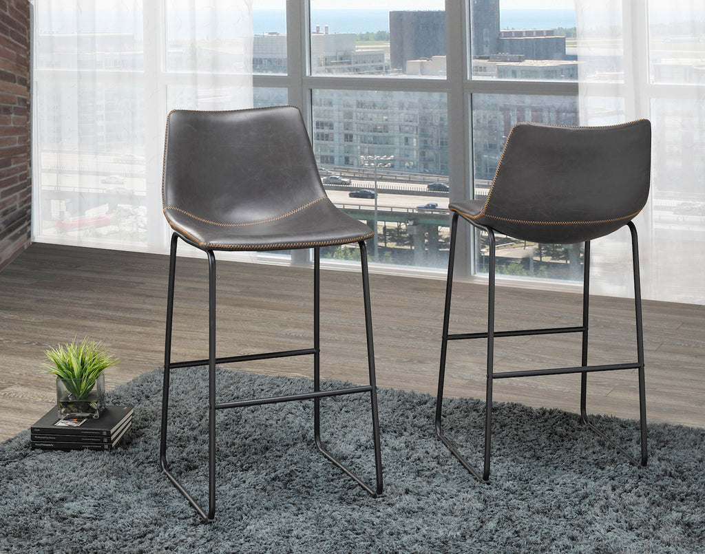 "Acasia 29"" Bar Stool - Grey (Set of 2) 