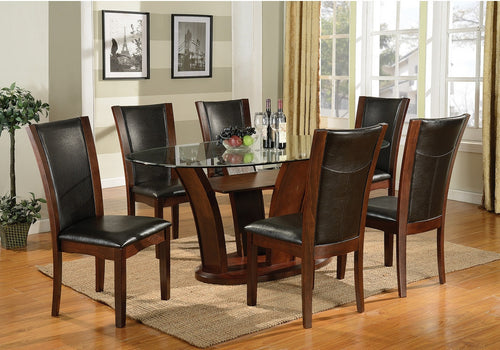Ambrose Oval 7PC Dining Set - Espresso | Candace and Basil Furniture