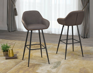 "Alexis 29"" Bar Stool - Brown (Set of 2) 