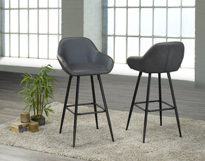 "Alexis 29"" Bar Stool - Grey (Set of 2) 