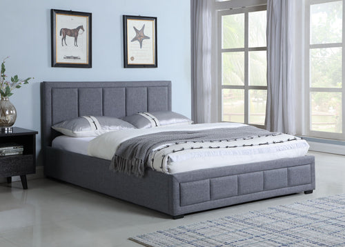 Pacific King Storage Bed - Grey Linen