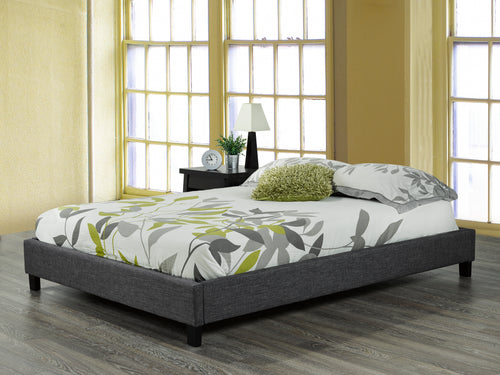 Robinson Double/Full Platform Bed Base - Grey Linen | Candace and Basil Furniture