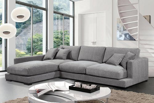 Hvar LHF Sectional - Grey Linen