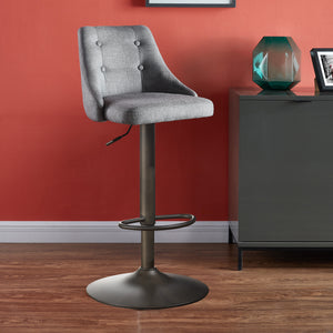 Gas Lift Stool - Grey (Set Of 2)