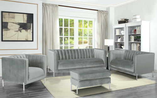 Arthur Sofa Series - Grey Velvet