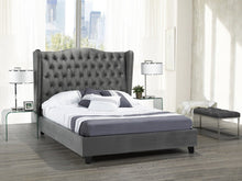 Load image into Gallery viewer, Alexandra Queen Platform Bed - Grey Velvet | Candace and Basil Furniture