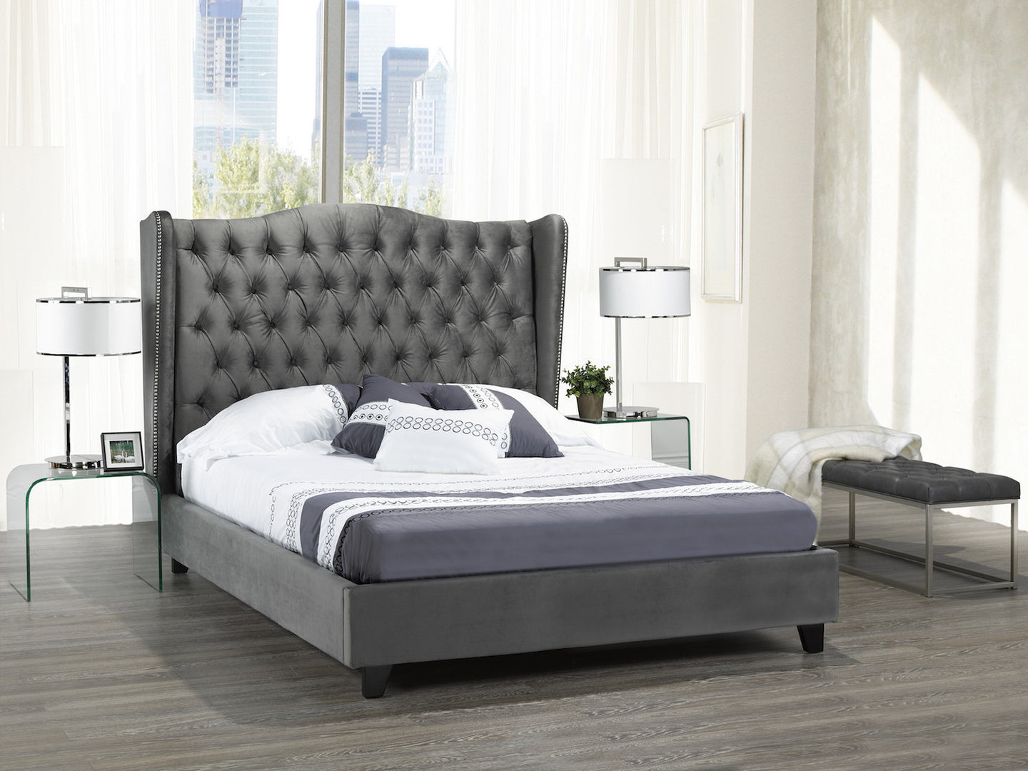 resource size metal black headboard itm frame wooden king with slat intellibase bed platform