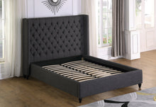 Load image into Gallery viewer, Marcella King Platform Bed - Grey Linen