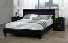 Load image into Gallery viewer, Oliver Queen Platform Bed w/ LED - Black | Candace and Basil Furniture