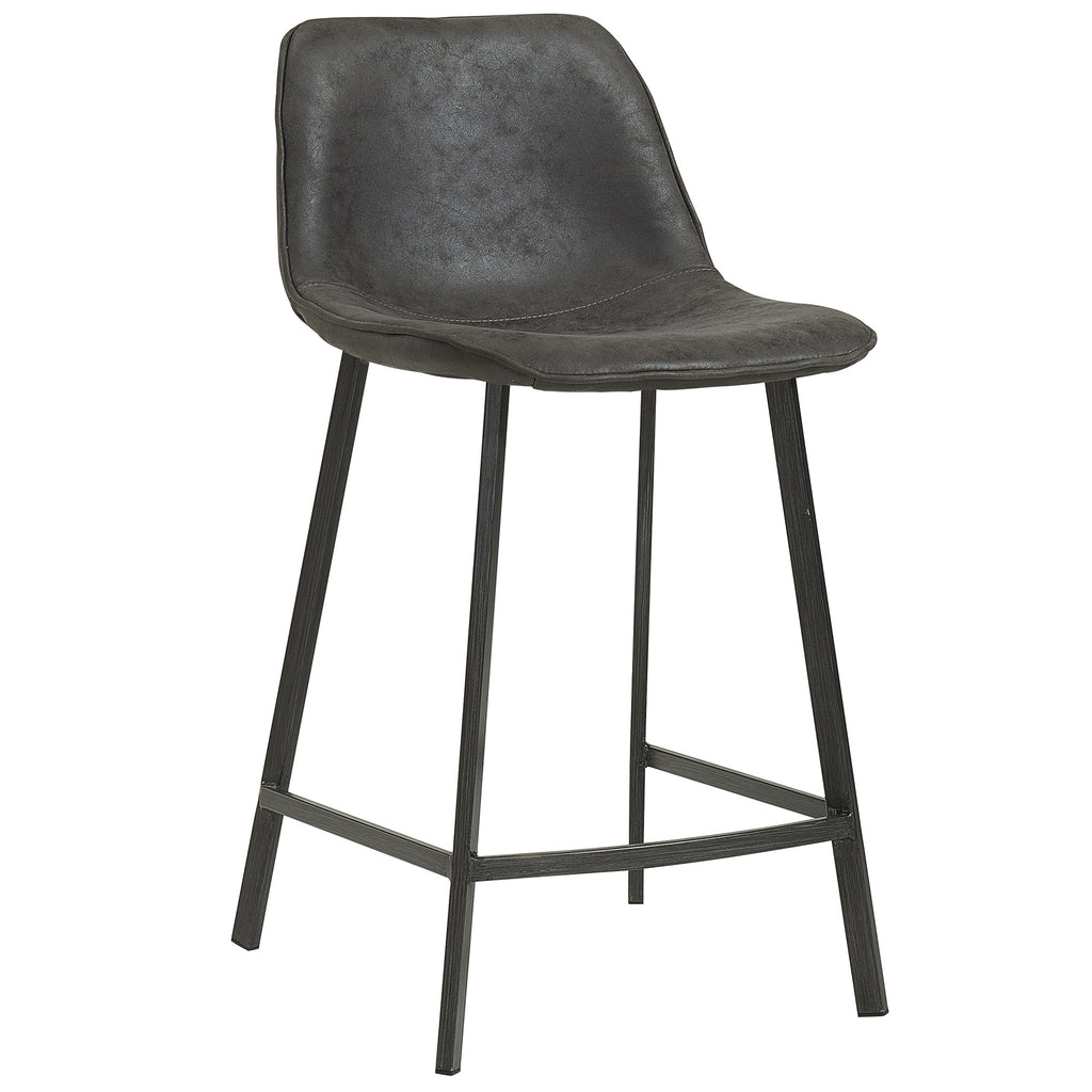 "Candace & Basil Furniture |  26"" Counter Stool - Vintage Grey (Set Of 2)"