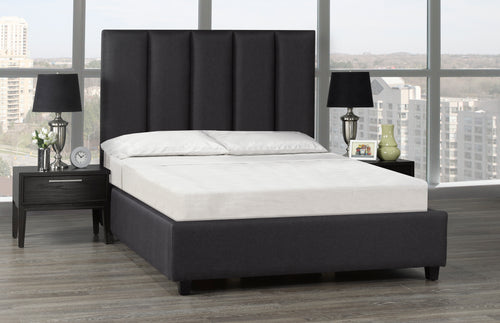 Celine Platform Bed - Dark Grey Linen 🇨🇦