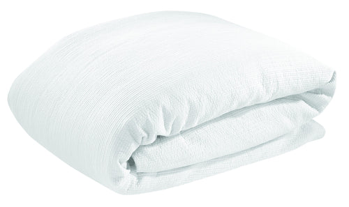 Double/Queen Quilted Duvet Cover - White