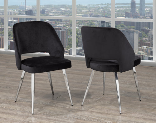 Madagascar Dining Chair (Set of 2) - Black | Candace and Basil Furniture