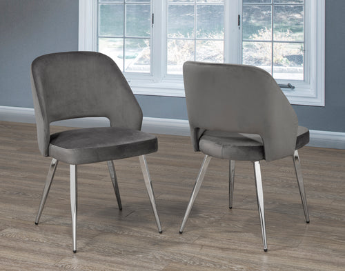 Madagascar Dining Chair (Set of 2) - Grey | Candace and Basil Furniture