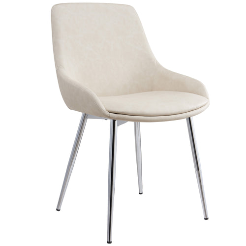 Candace & Basil Furniture |  Side Chair - Ivory (Set Of 2)
