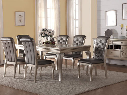 Elsa 7PC Dining Set - Silver