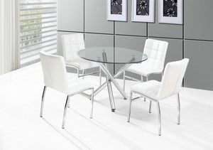 Weston 5PC Dining Set - White/Chrome