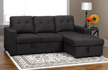 Load image into Gallery viewer, Anthony LHF/RHF Sectional w/ Pullout Bed & Storage - Dark Grey Linen | Candace and Basil Furniture