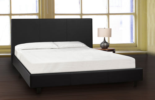 Troy Platform Bed - Black Leatherette