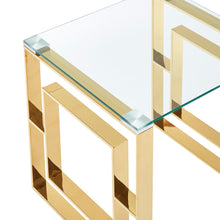 Load image into Gallery viewer, Eros Coffee Table - Gold Stainless Steel/Glass