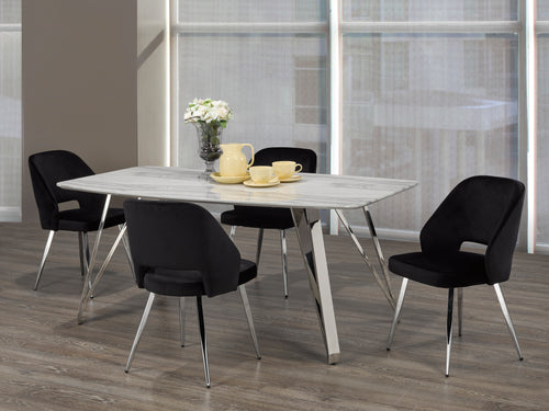 Madagascar 5PC Rectangular Dining Set - Black | Candace and Basil Furniture