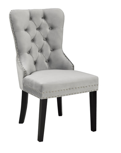 Verona Dining Chair - Grey Velvet | Candace and Basil Furniture