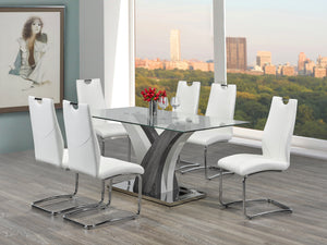 Jerome 7pc Dining Set - White Chairs
