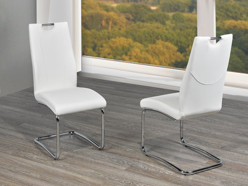 Jerome Dining Chair (Set of 2) - White Leatherette | Candace and Basil Furniture