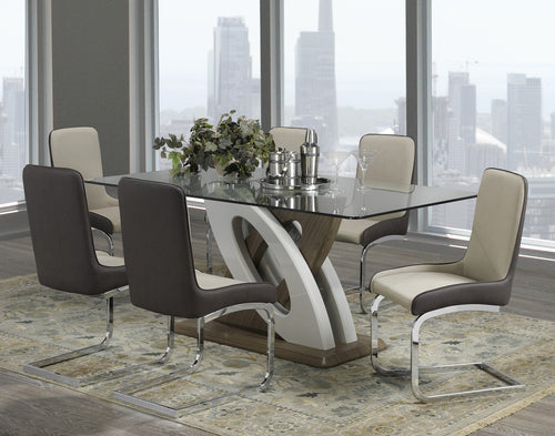 Candace & Basil Furniture |  Two-Tone 7pc Dining Set