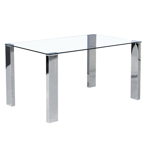 Frankfurt Dining Table - Stainless Steel