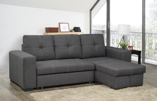 Roberto Pull-Out Storage Sectional (RHF) - Grey Linen