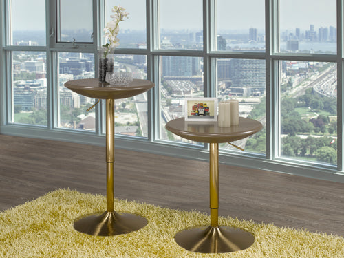 Golden Brown Bistro Table - Adjustable Height (Set of 2)