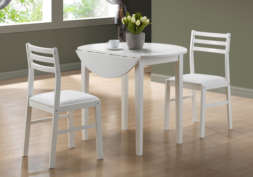 Candace & Basil Dining Set - 3PC Set / White With A 36