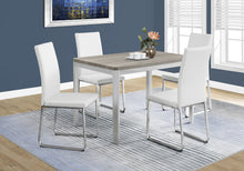 "Load image into Gallery viewer, Candace & Basil Dining Table - 32""X 48"" / Dark Taupe / Chrome Metal"