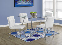"Load image into Gallery viewer, Candace & Basil Dining Table - 36""X 48"" / Chrome With 8Mm Tempered Glass"