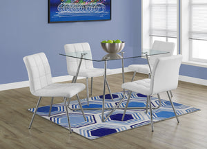 "Candace & Basil Dining Table - 36""X 48"" / Chrome With 8Mm Tempered Glass"