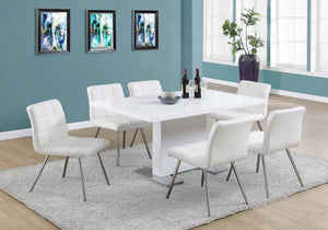 "Candace & Basil Dining Table - 35""X 60"" / High Glossy White"