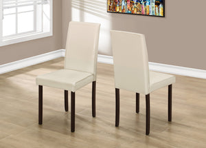 "Candace & Basil Dining Chair - 2PC Set / 36""H Ivory Leather-Look"
