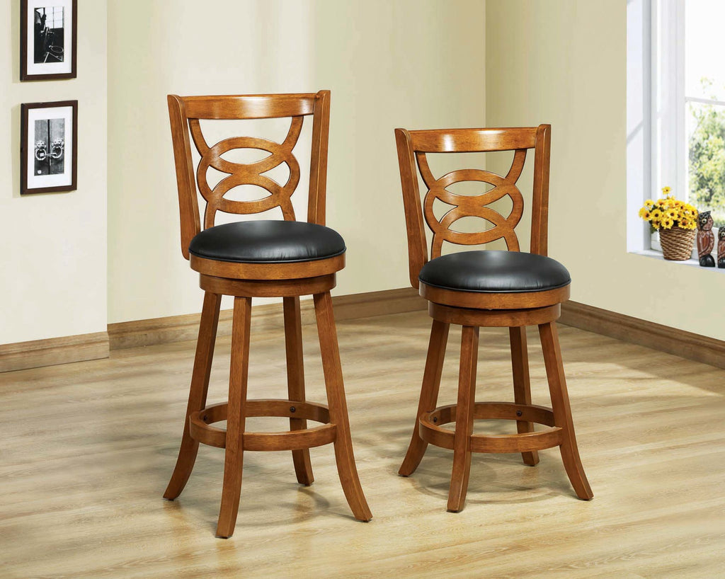 "Candace & Basil Barstool - 2PC Set / 42""H / Swivel / Dark Oak Bar Height"