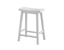"Load image into Gallery viewer, Barstool - 2PC Set / 24""H / White Saddle Seat"