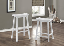 "Load image into Gallery viewer, Candace & Basil Barstool - 2PC Set / 24""H / White Saddle Seat"