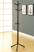 "Load image into Gallery viewer, Candace & Basil Coat Rack - 69""H / Cappuccino Wood Contemporary Style"