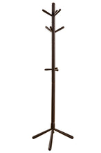 "Load image into Gallery viewer, Coat Rack - 69""H / Cappuccino Wood Contemporary Style"