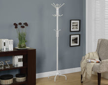 "Load image into Gallery viewer, Candace & Basil Coat Rack - 70""H / White Metal"