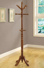 "Load image into Gallery viewer, Candace & Basil Coat Rack - 73""H / Oak Wood Traditional Style"
