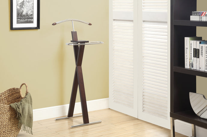 Candace U0026 Basil Bedroom Accent   Valet   Cappuccino / Chrome Metal