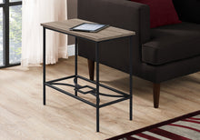 "Load image into Gallery viewer, Accent Table - 22""H / Dark Taupe / Black Metal"