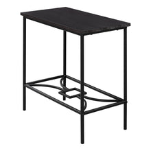 "Load image into Gallery viewer, Accent Table - 22""H / Cappuccino / Black Metal"